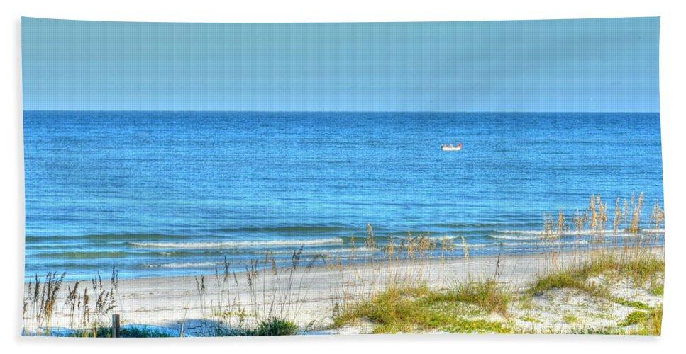 Beach Bath Sheet featuring the photograph Solitude by Debbi Granruth