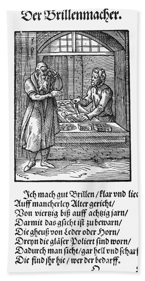 1568 Bath Sheet featuring the photograph Spectacle Maker, 1568 by Granger