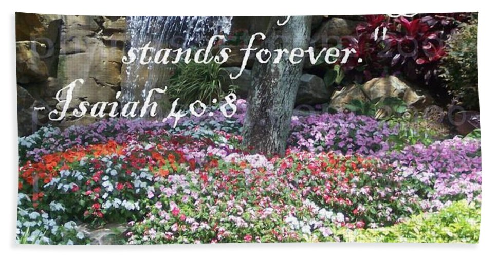 Inspirational Bath Sheet featuring the photograph Stands Forever by Pharris Art