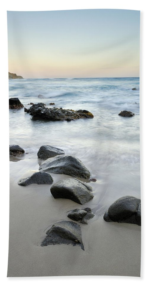 Seascape Bath Sheet featuring the photograph Stones by Guido Montanes Castillo