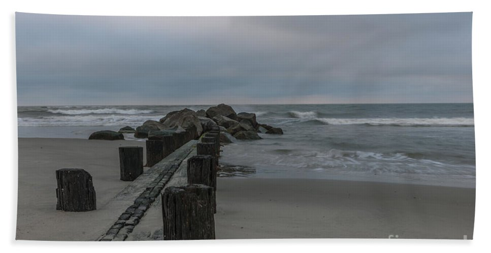 Folly Beach Hand Towel featuring the photograph Storm Clouds Brewing by Dale Powell