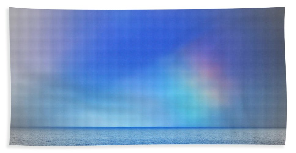 Rainbow Hand Towel featuring the photograph Storm Passing by Kris Hiemstra