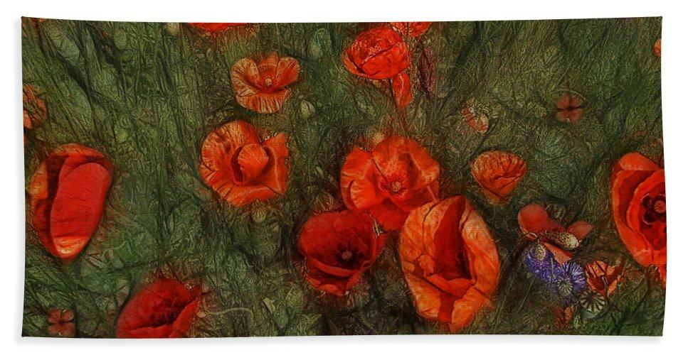 Corn Poppy Hand Towel featuring the photograph Summer Wind by Joachim G Pinkawa