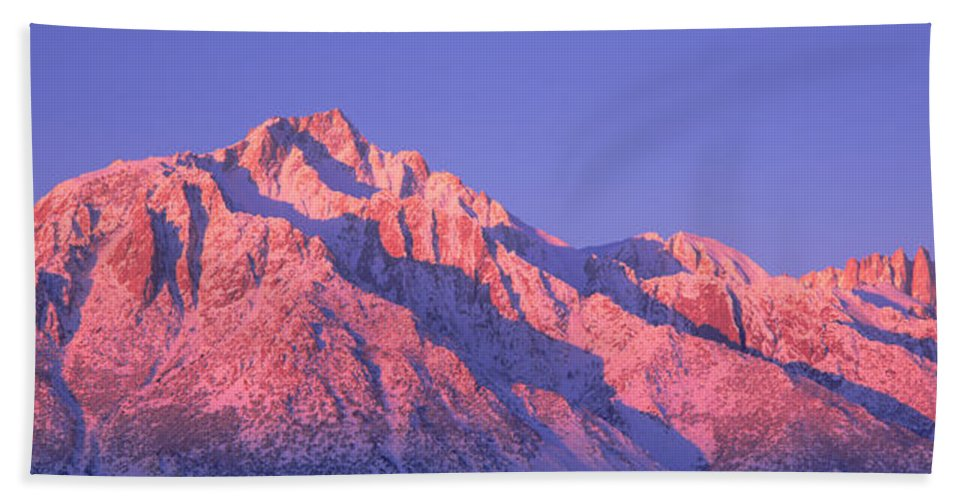 Photography Hand Towel featuring the photograph Sunrise At 14,494 Feet, Mount Whitney by Panoramic Images
