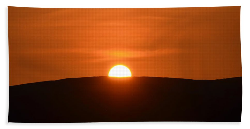 Sunset Hand Towel featuring the photograph Sunset In The Ox Mountains County Sligo Ireland by Bill Cannon