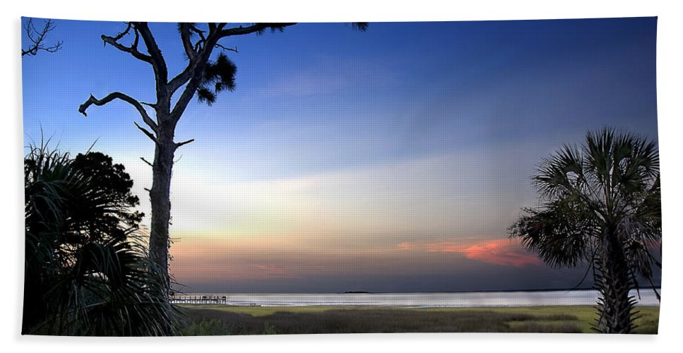 Sunset Hand Towel featuring the photograph Sunset Over St. Joe Bay 2 by Norman Johnson
