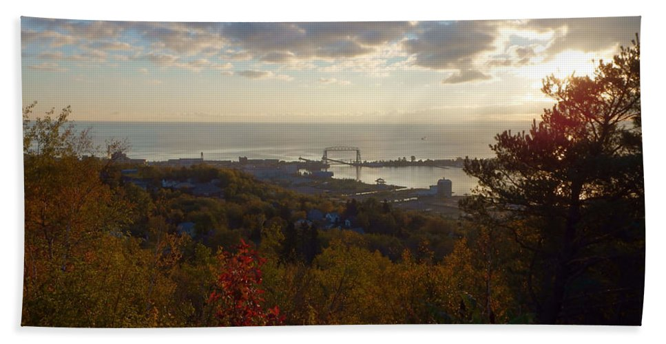 Lake Superior Bath Sheet featuring the photograph Superior View by Alison Gimpel