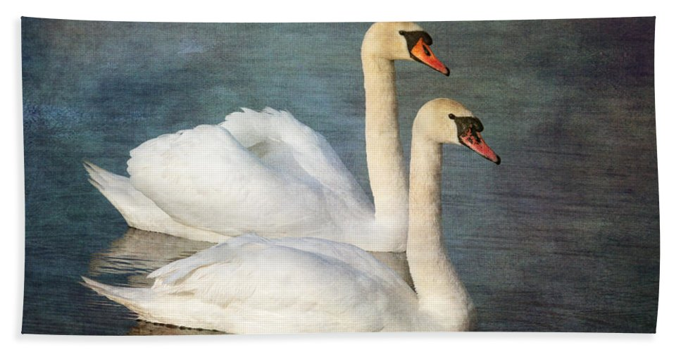 Mute Swan Hand Towel featuring the photograph Swan by Chris Smith