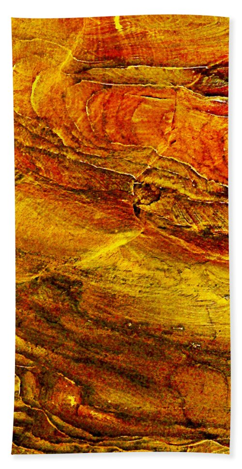 Sweet Potato Pie Rock In Petra Bath Sheet featuring the photograph Sweet Potato Pie Rock In Petra-jordan by Ruth Hager