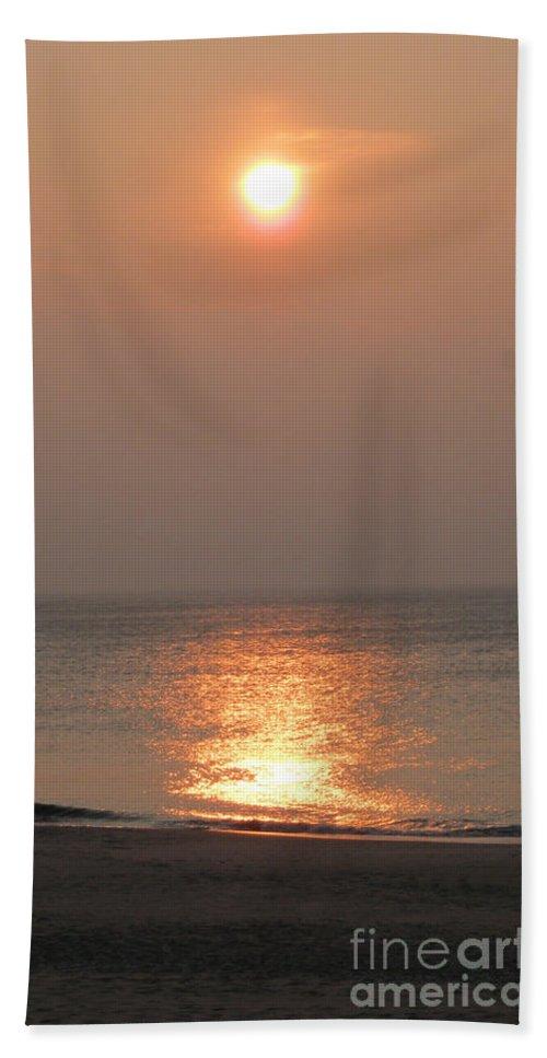 Sylt Sunset Hand Towel featuring the photograph Sylt Sunset 2 by Heidi Sieber