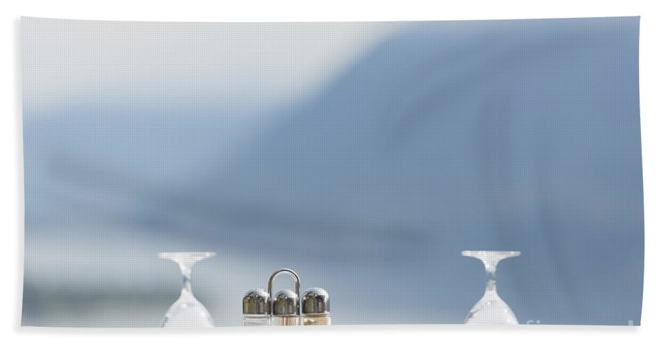 Table Bath Sheet featuring the photograph Table by Mats Silvan