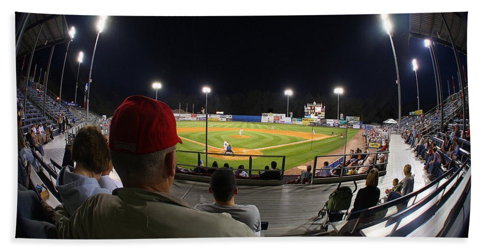 Baseball Hand Towel featuring the photograph Take Me Out by Geoff Crego