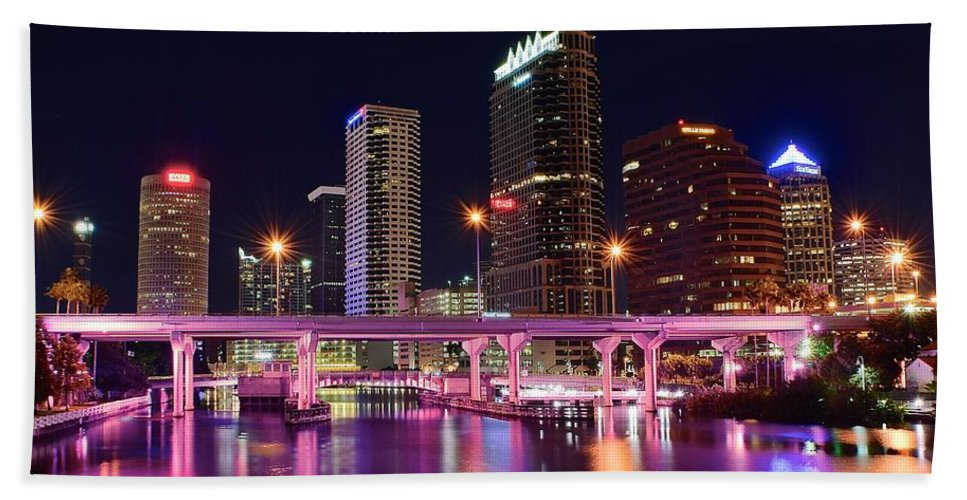 Tampa Bath Sheet featuring the photograph Tampa Colors by Frozen in Time Fine Art Photography