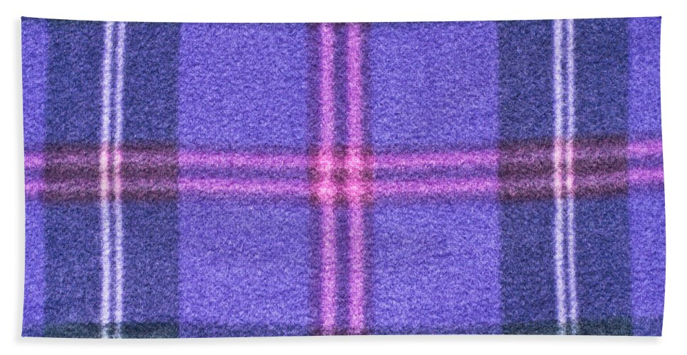 Background Hand Towel featuring the photograph Tartan Pattern by Tom Gowanlock