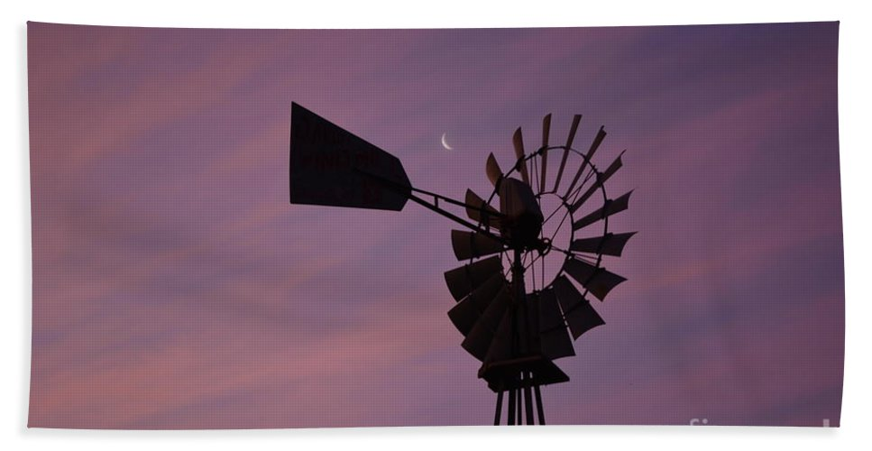 Windmill Bath Sheet featuring the photograph Texas Sunrise II by Gale Cochran-Smith