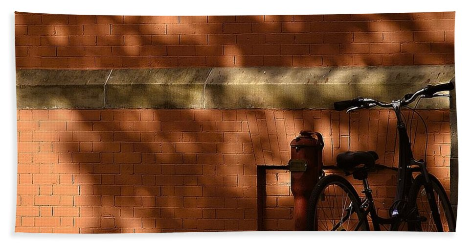 Bowdoin College Hand Towel featuring the photograph The Bike by Marysue Ryan