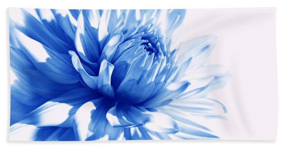 Dahlia Hand Towel featuring the photograph The Blue Dahlia Flower by Jennie Marie Schell