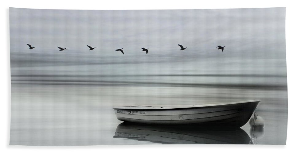 Boat Bath Sheet featuring the photograph The Boat by Heike Hultsch