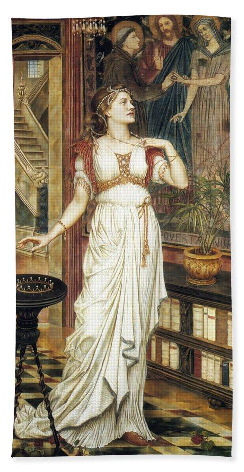 Evelyn De Morgan Hand Towel featuring the painting The Crown Of Glory by Evelyn De Morgan