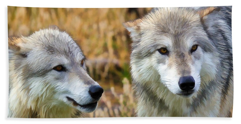 Wolves Hand Towel featuring the photograph The Eyes Have It by Athena Mckinzie