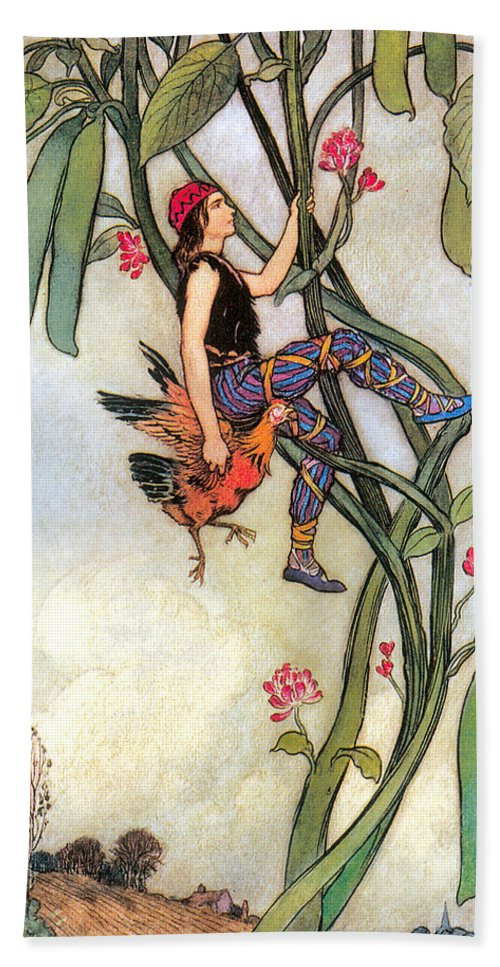 The Fairy Book Bath Sheet featuring the digital art The Fairy Book by Warwick Goble