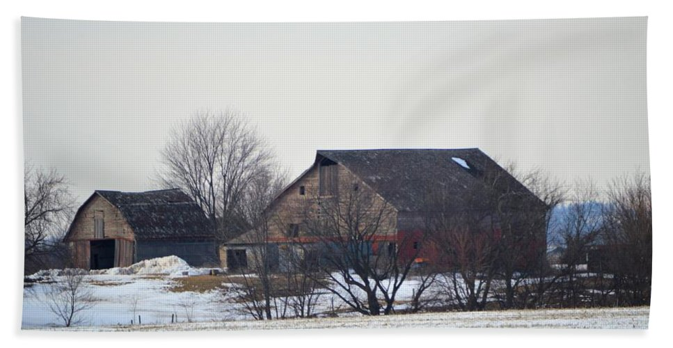 Barn Bath Sheet featuring the photograph The Farm by Bonfire Photography