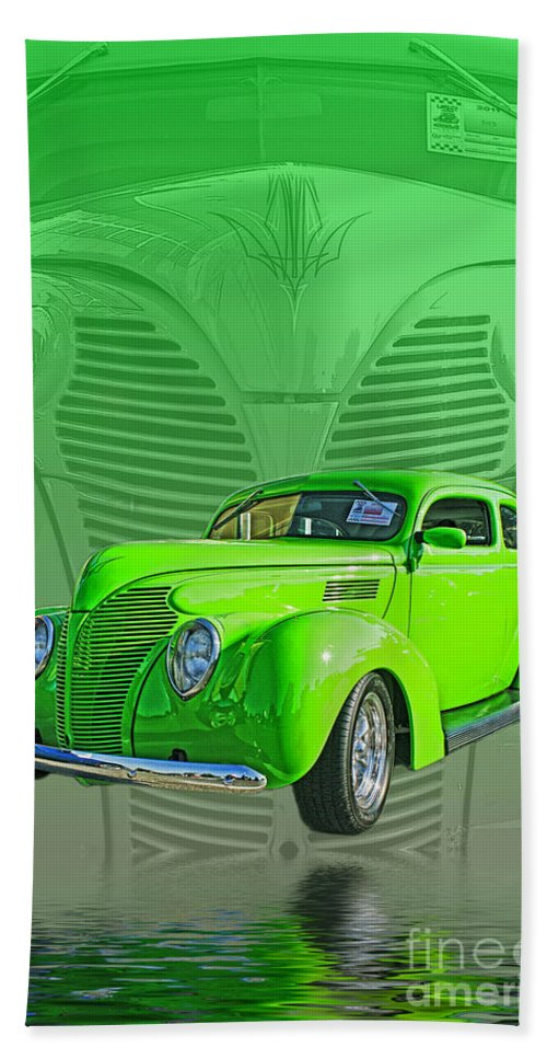 Cars Hand Towel featuring the photograph The Green Machine by Randy Harris