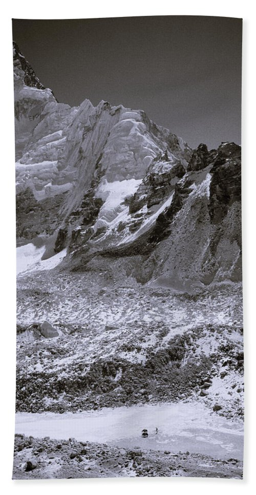 Dramatic Landscape Hand Towel featuring the photograph The Himalaya by Shaun Higson