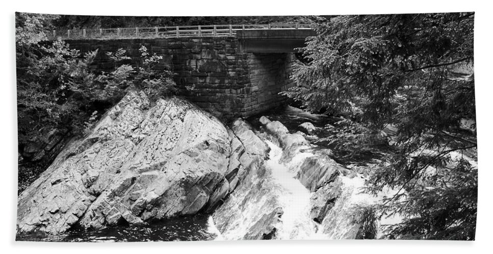 The Sinks Hand Towel featuring the photograph The Sinks Smoky Mountains Bw by Cynthia Woods