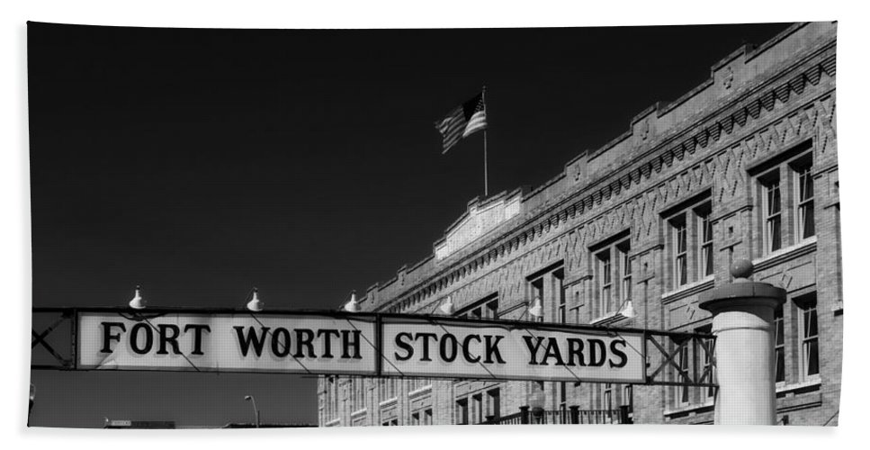 Fort Worth Hand Towel featuring the photograph The Stock Yards Of Fort Worth by Mountain Dreams