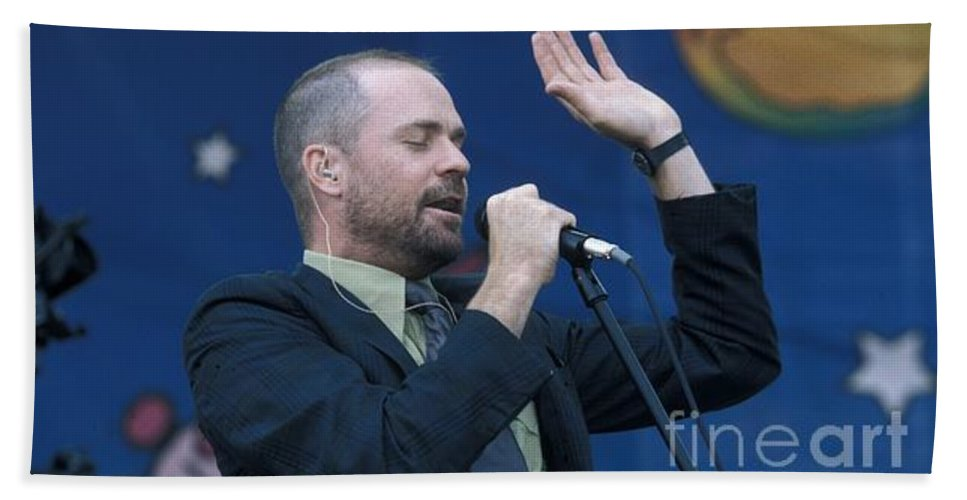 Downloads Hand Towel featuring the photograph The Tragically Hip - Gordon Downie by Concert Photos