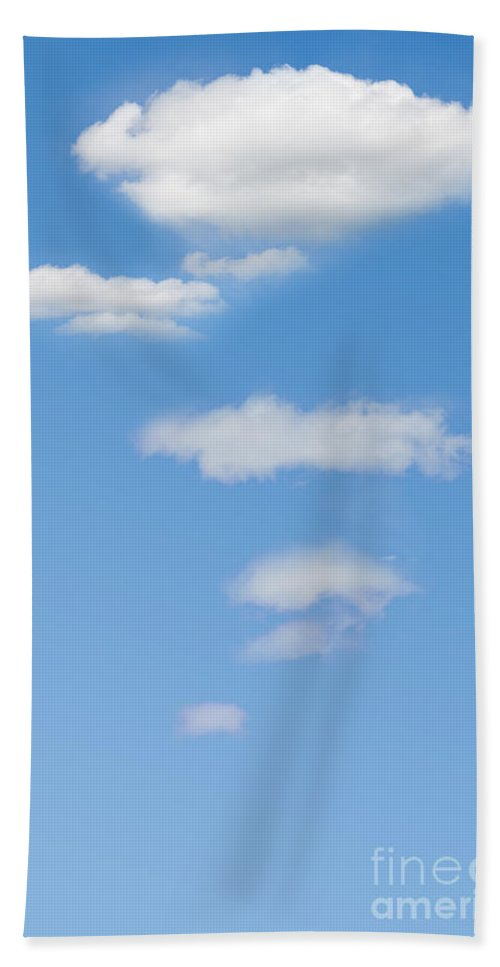 Thought Hand Towel featuring the photograph Thought Clouds by Liz Leyden