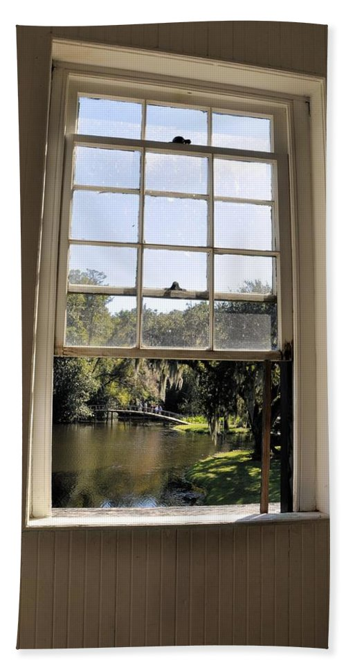 Middleton Place Hand Towel featuring the photograph Through The Window by Rich Bodane