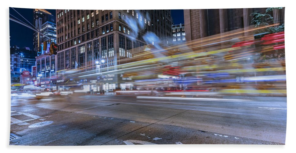 Travel Hand Towel featuring the photograph Time Square by Peter Lakomy