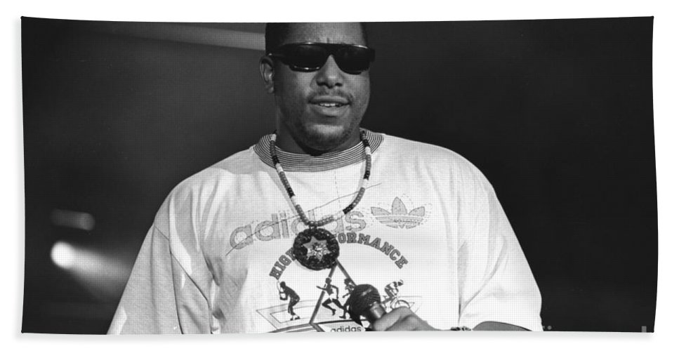 Grammy Nominated Rapper And Actor Anthony Terrell Smith Hand Towel featuring the photograph Rapper Tone Loc by Concert Photos