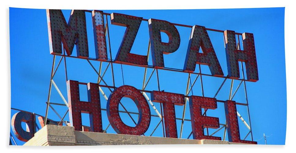 America Hand Towel featuring the photograph Tonopah Nevada - Mizpah Hotel by Frank Romeo