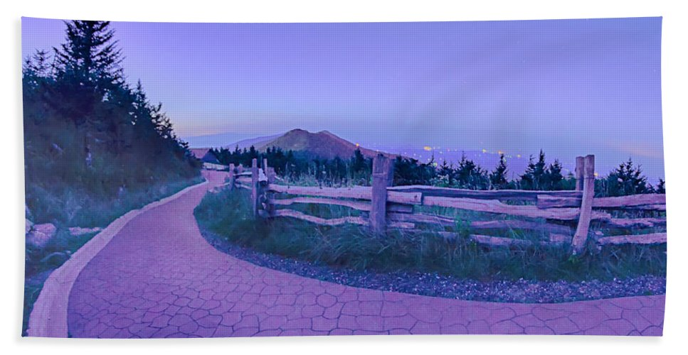 State Bath Sheet featuring the photograph Top Of Mount Mitchell After Sunset by Alex Grichenko