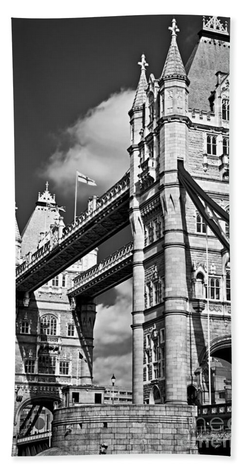 Tower Bath Sheet featuring the photograph Tower Bridge In London by Elena Elisseeva