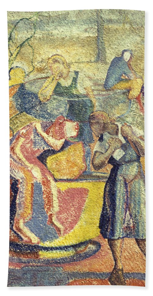 Johnpowellpaintings Bath Sheet featuring the painting Trapped In Time by John Powell