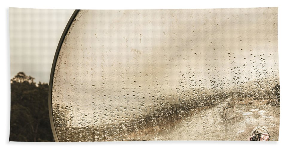 Wet Hand Towel featuring the photograph Travelling Photographer Taking Wet Weather Photo by Jorgo Photography - Wall Art Gallery