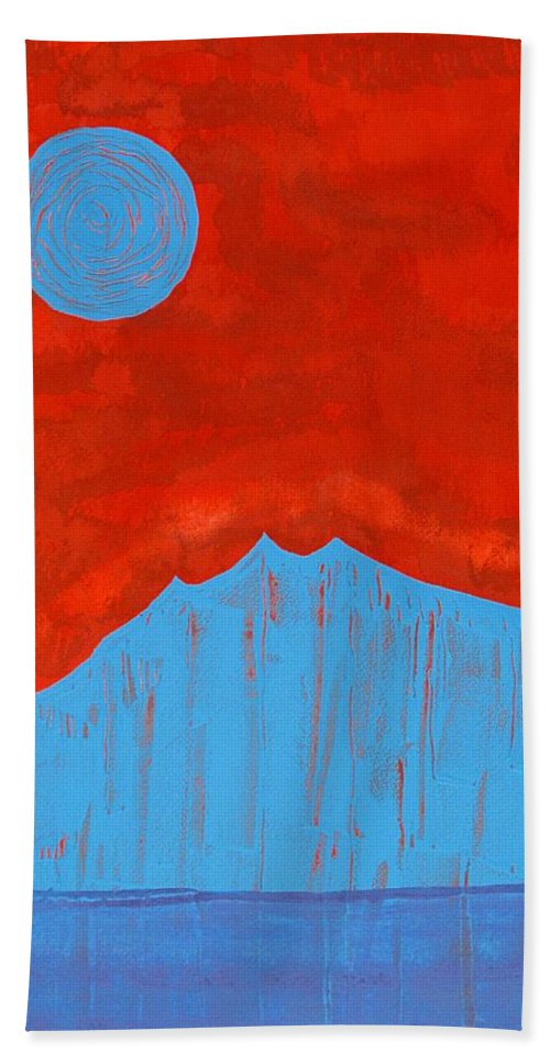 Painting Bath Sheet featuring the painting Tres Orejas Original Painting by Sol Luckman