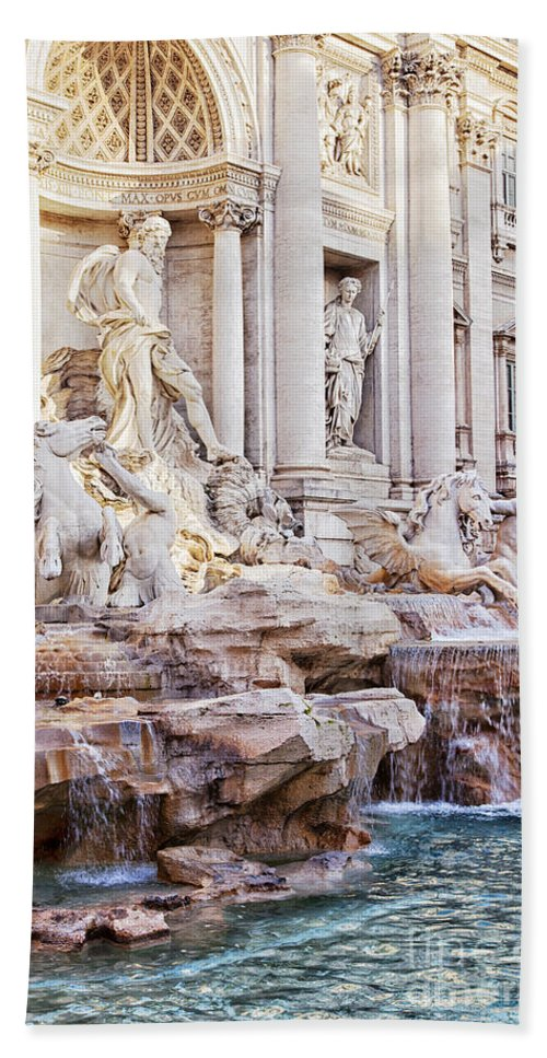 Italy Hand Towel featuring the photograph Trevi Fountain by Sophie McAulay