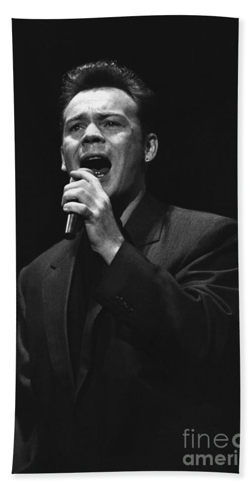 Singer Hand Towel featuring the photograph Ub40 - Ali Campbell by Concert Photos