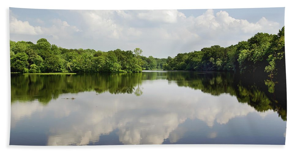 2d Bath Sheet featuring the photograph Unicorn Lake by Brian Wallace