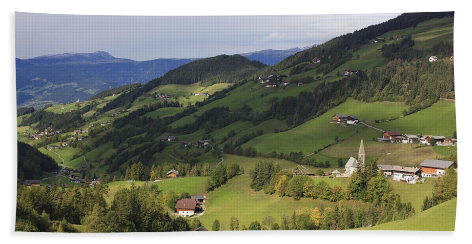 Alpen Bath Sheet featuring the photograph Val Di Funes Dolomites Italy by Ivan Pendjakov