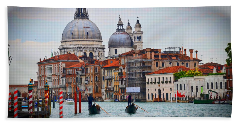 Bath Sheet featuring the photograph Venice Italy by Burt Finkelstein