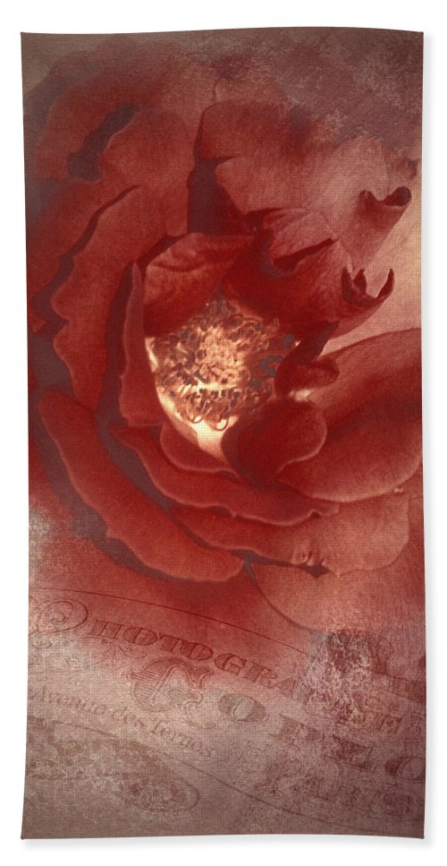 Vintage Photographs Hand Towel featuring the photograph Victorian Rose by Mel Hensley