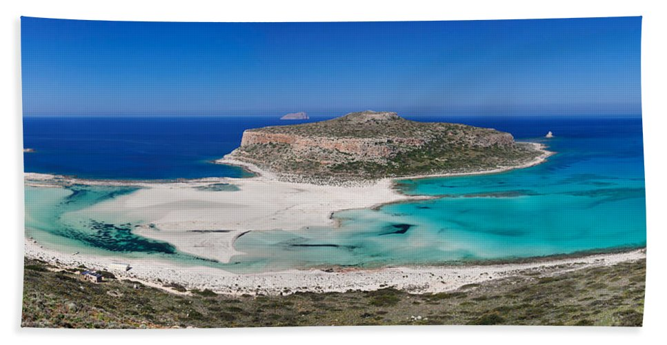 Photography Bath Sheet featuring the photograph View Of The Balos Beach, Gramvousa by Panoramic Images
