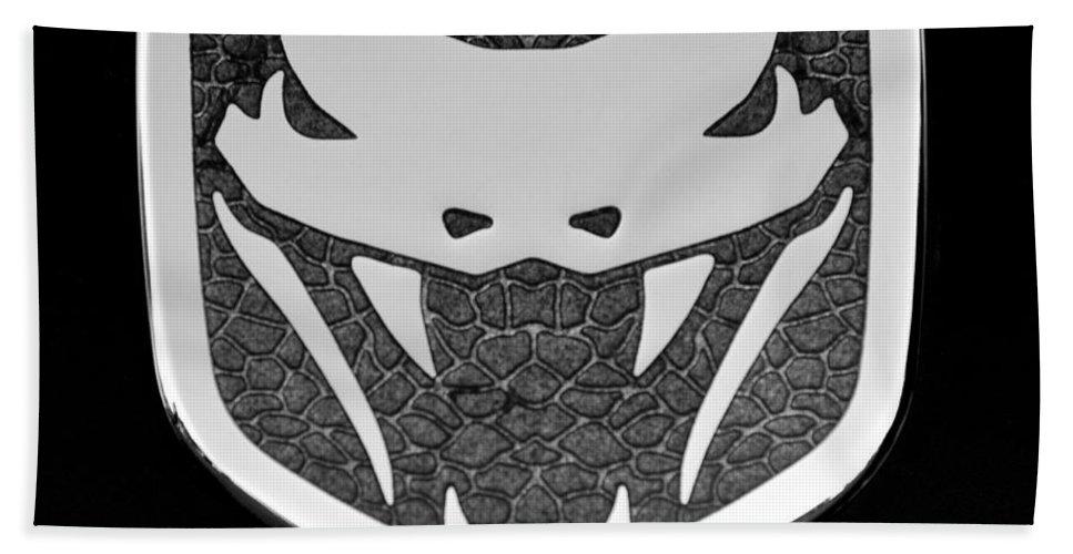 Viper Emblem Hand Towel featuring the photograph Viper Emblem by Jill Reger