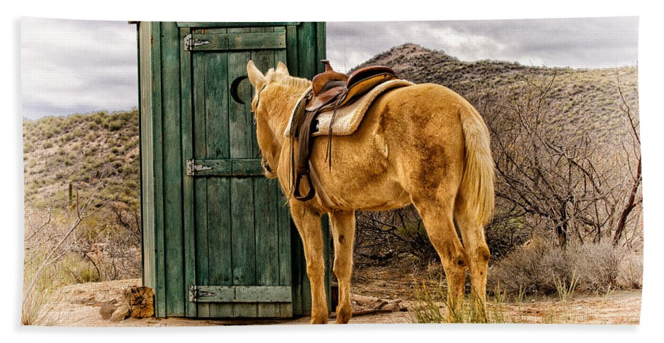 Outhouse Bath Sheet featuring the photograph Waiting by Susan Kordish